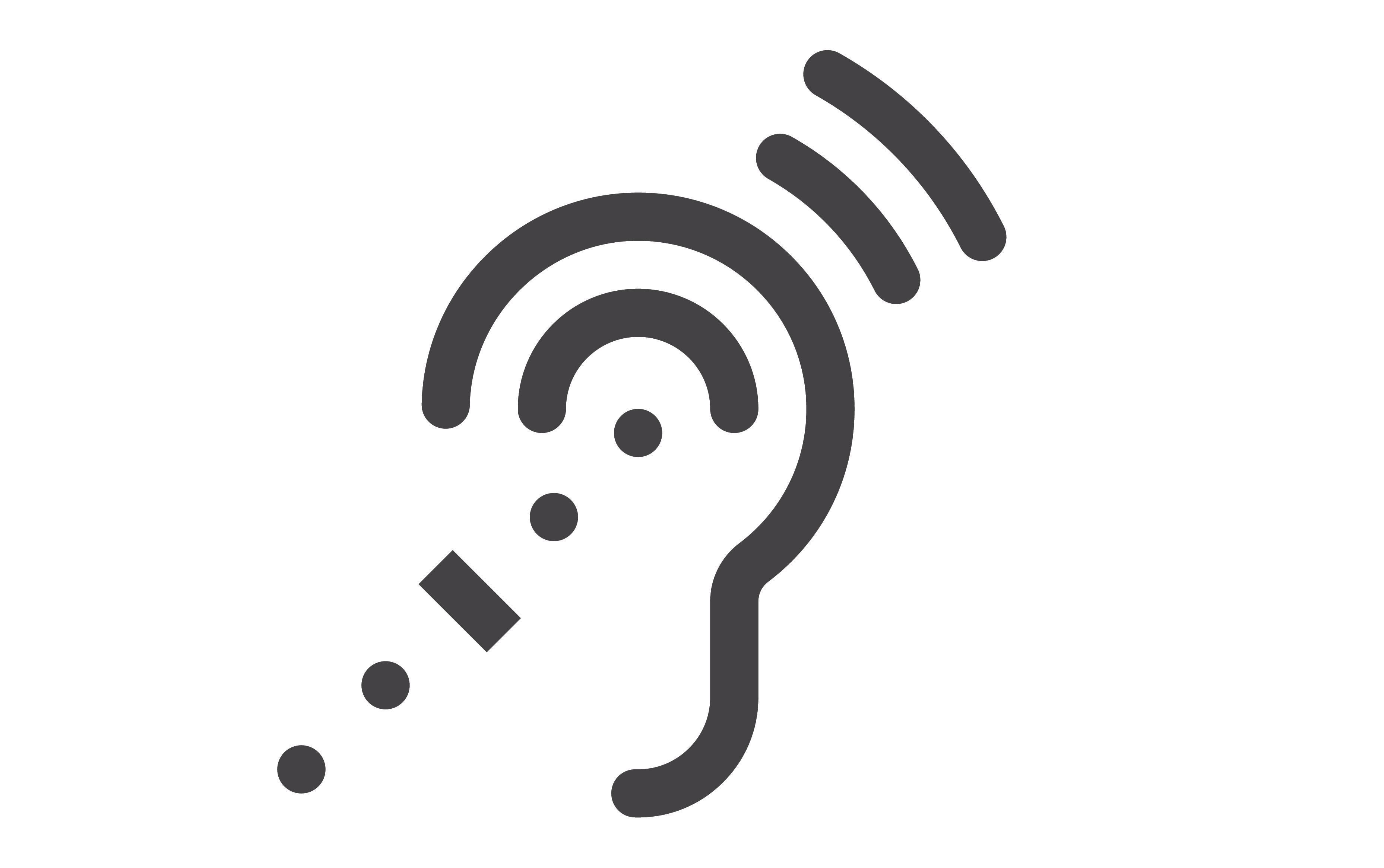 Deaf, difficulty, ear, hearing, problem icon |Deaf Icon Moth